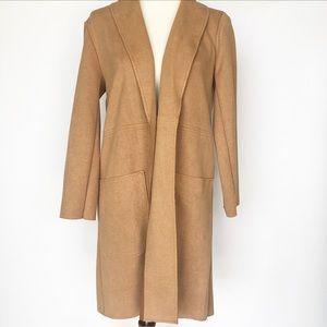 Zara Camel Open Front Fall Jacket 🍂